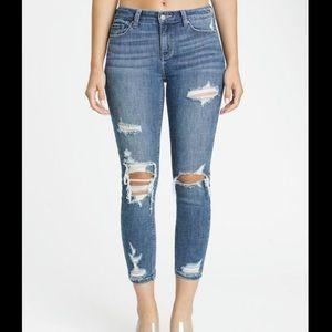 "Eunina Josie Skinny Jeans Cropped Size 27"""
